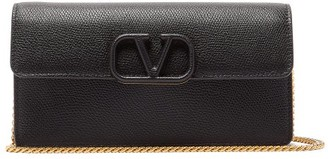 Valentino V-sling Small Grained-leather Cross-body Bag - Womens - Black