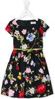 MonnaLisa floral print dress - kids - Cotton/Polyamide - 3 yrs