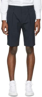BOSS Navy Seersucker Shorts