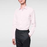 Paul Smith Men's Tailored-Fit Pink Poplin Shirt