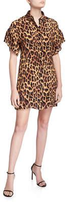 Alice + Olivia Jude Ruffle Button-Down Tunic Dress