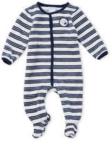 Absorba Newborn Boys) Velour Striped Footie