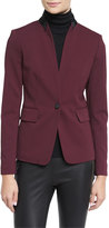 Rag & Bone Archer Two-Tone Stretch Blazer, Port