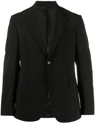 Versace Crystal-Embellished Single-Breasted Jacket