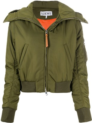Loewe Zip-Up Hooded Jacket