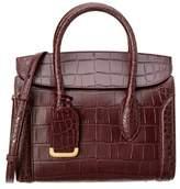 Alexander McQueen Heroine 30 Embossed Leather Satchel.