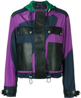Versace colour curve jacket - women - Lamb Skin/Polyamide/Polyester - 38