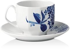 Royal Copenhagen Blomst Lilac Cup & Saucer Set