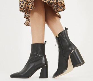 Office Attraction Smart Boots Black Leather