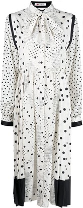 Ports 1961 Long-Sleeve Polka Dot Dress