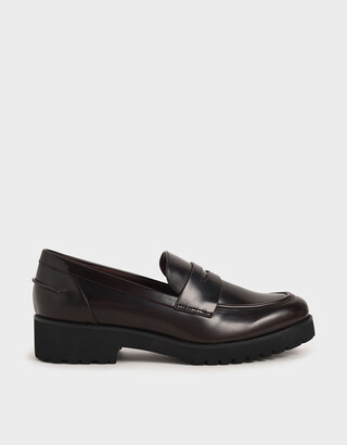 Charles & Keith Platform Penny Loafers