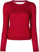 RED Valentino slim-fit crew neck jumper - women - Silk/Polyamide/Cashmere - XS