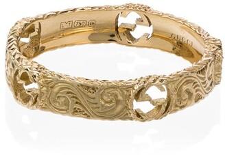 Gucci 18kt yellow gold GG logo ring