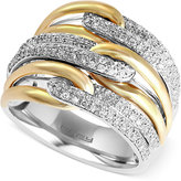 Effy Duo by Diamond Two-Tone Ring (5/8 ct. t.w.) in 14k Gold