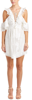 Rachel Zoe Valerie Silk-Blend Lace-Up Dress