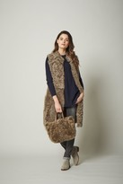 Owen Barry Athea Reversible Mid Length Gilet In Musk - Small