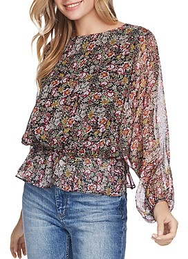 1 STATE Long-Sleeve Forest Gardens Blouse