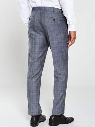 Skopes Kolding Slim Suit Trousers - Blue/Grey Check