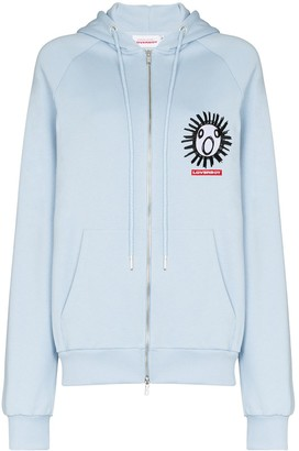Charles Jeffrey Loverboy x Browns 50 The Scun motif zip-front hoodie