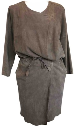 Humanoid Brown Leather Dress for Women