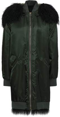 Mr & Mrs Italy Shearling-trimmed Shell Hooded Coat