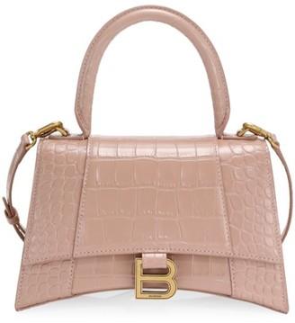 Balenciaga Hourglass Leather Top Handle Bag