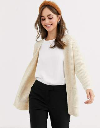 Pimkie throwon cardigan with pockets in beige