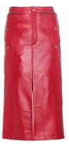 Chloé Embellished Leather Skirt