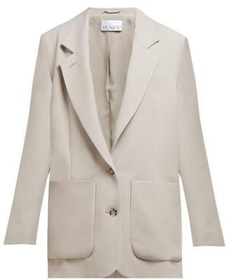 Raey Relaxed-fit Wool-blend Blazer - Womens - Grey