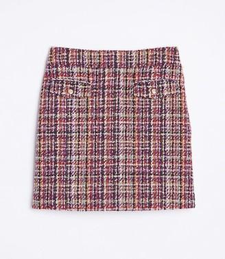LOFT Tweed Shift Skirt