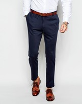 Asos Slim Suit Pants In Jersey