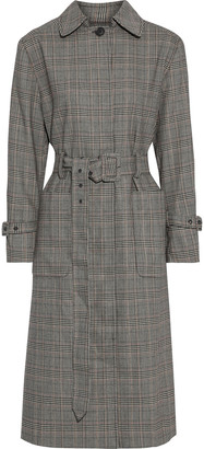 Frame Prince Of Wales Checked Woven Trench Coat