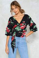 Nasty Gal nastygal Tie Me I Know We Can Make It Floral Top