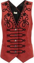 Temperley London Voyage embroidered cotton-blend twill gilet