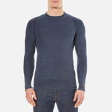 Superdry Men's Garment Dyed L.A. Textured Crew Jumper