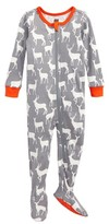 Tea Collection Infant Boy's Red Deer Fitted One-Piece Pajamas