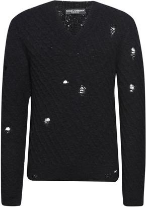 Dolce & Gabbana Distressed Woven Sweater
