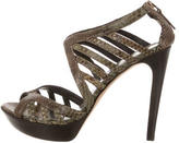 Fendi Snakesking Multistrap Sandals