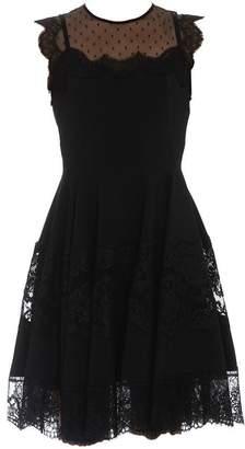 Dolce & Gabbana Lace Trim Flared Dress