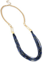 Kenneth Cole New York Gold-Tone Long Multi-Beaded Statement Necklace