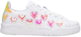 Chiara Ferragni Hearts Sneakers In White Leather