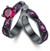 Peermont Black Rhodium Pin. K Sapphire Engagement Rin. G Set.