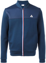 Le Coq Sportif striped zip sweatshirt - men - Cotton/Polyester - S