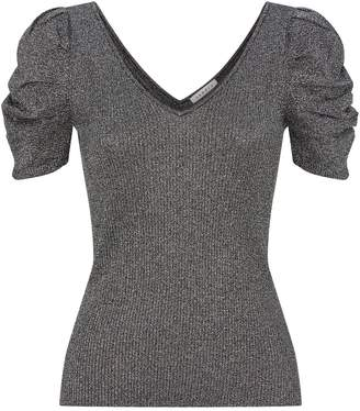 Sandro Knitted Lurex Top