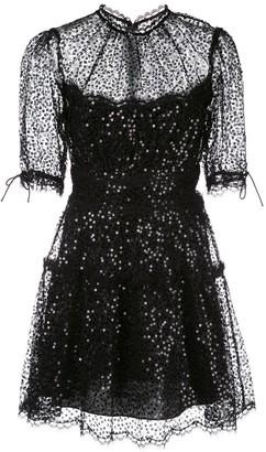 Jonathan Simkhai Sequinned Lace Mini Dress