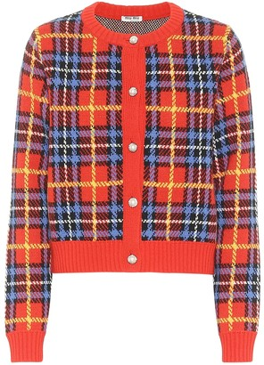 Miu Miu Checked wool cardigan