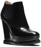 Michael Kors Collette Leather Wedge Ankle Boot