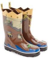 Kidorable Boy's 'Pirate' Waterproof Rain Boot