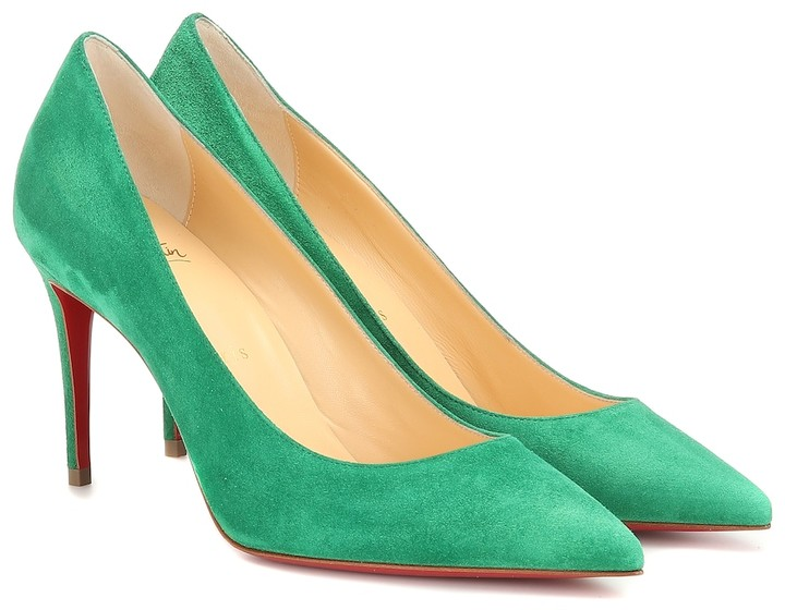 68448ae2ffc8 Green Louboutin Shoes - ShopStyle