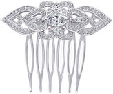 FINE JEWELRY DiamonArt Sterling Silver Cubic Zirconia Heart Hair Comb